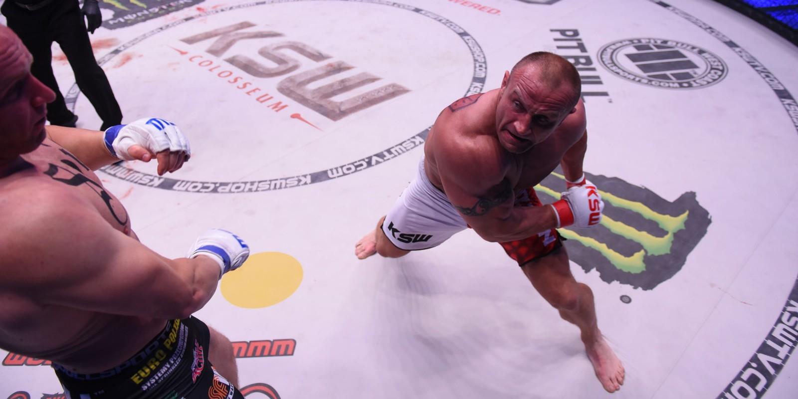 KSW39 Colosseum MMA gala at National Stadium in Warsaw - fight / action picture