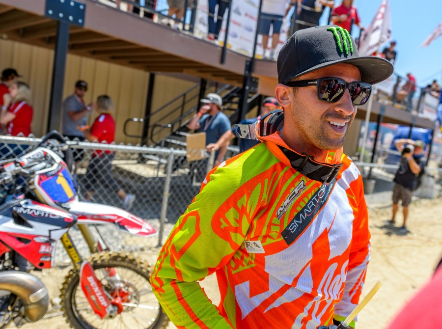Monster athletes at Glen Helen Raceway in California for the 2017 AMA Motocross Championship