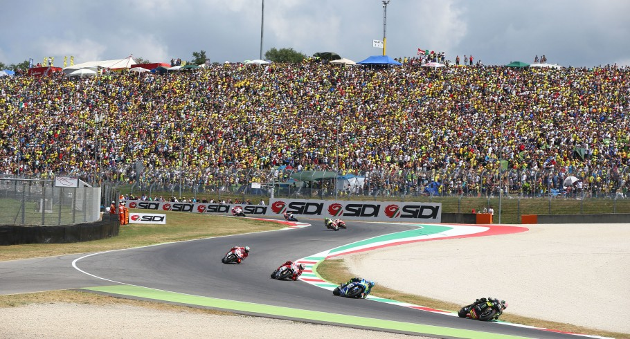 Monster athletes compete in the 2017 MotoGP stop in Mugello, Italy