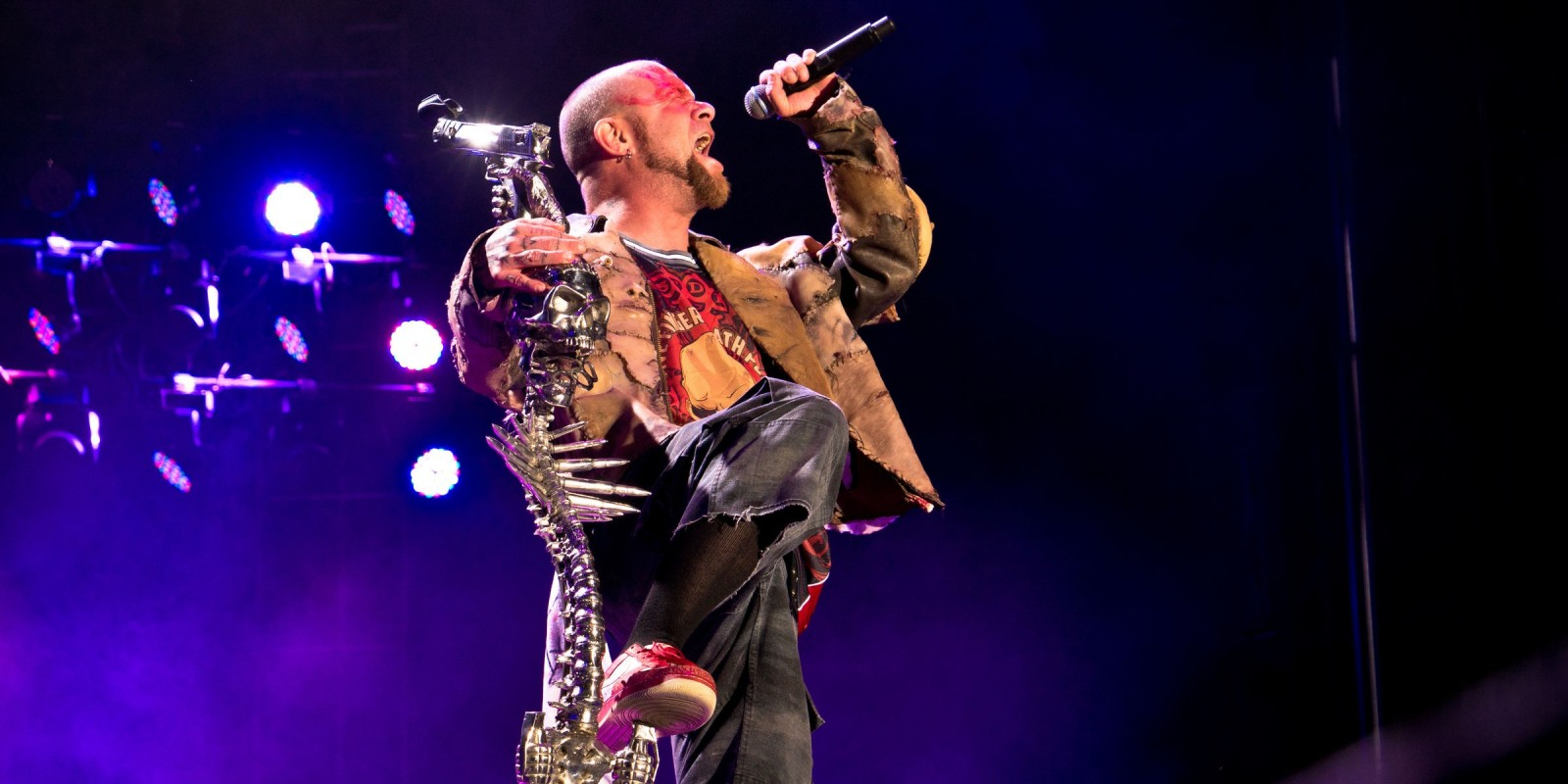 five finger death punch performing and signing at carolina rebellion festival
