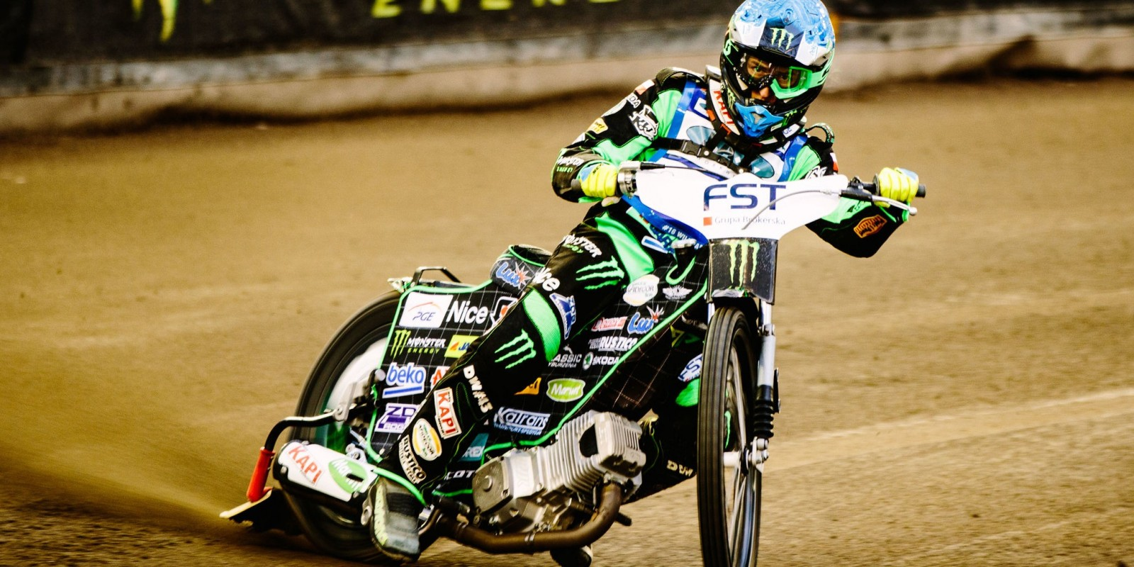 Images from official practise at the 2016 Polish Speedway GP