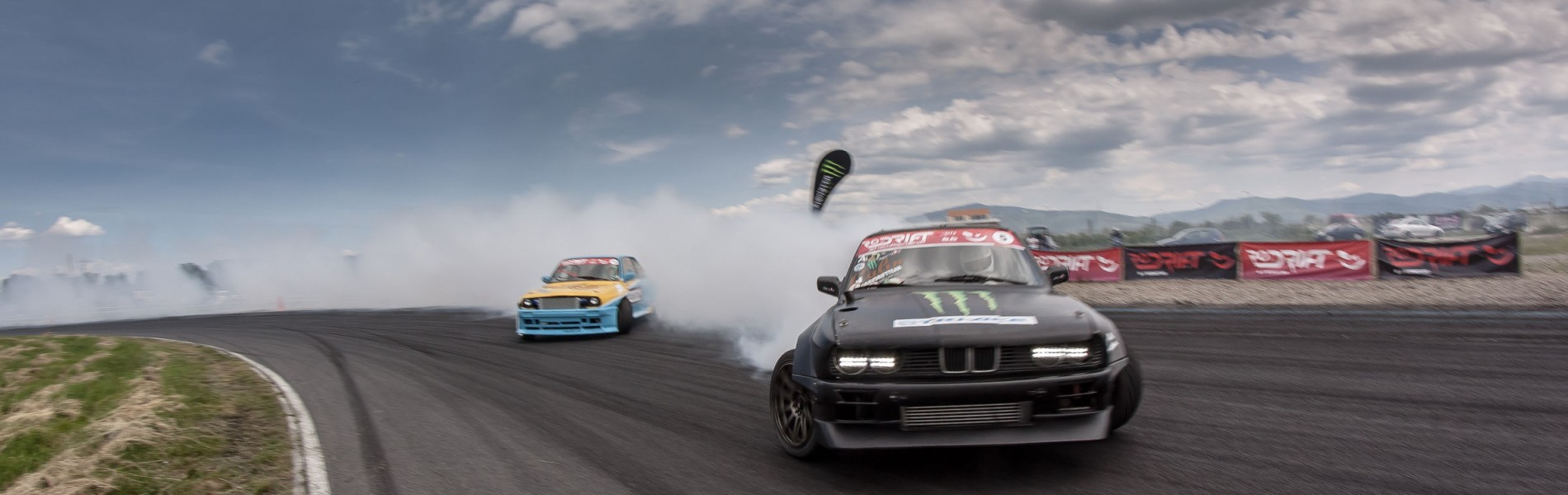 Event imagery taken at the second stage of the Romanian Drift Championship that took place in Prejmer, Romania. We also had a local drift athlete in the event, Calin Ciortan that won 1st prize.