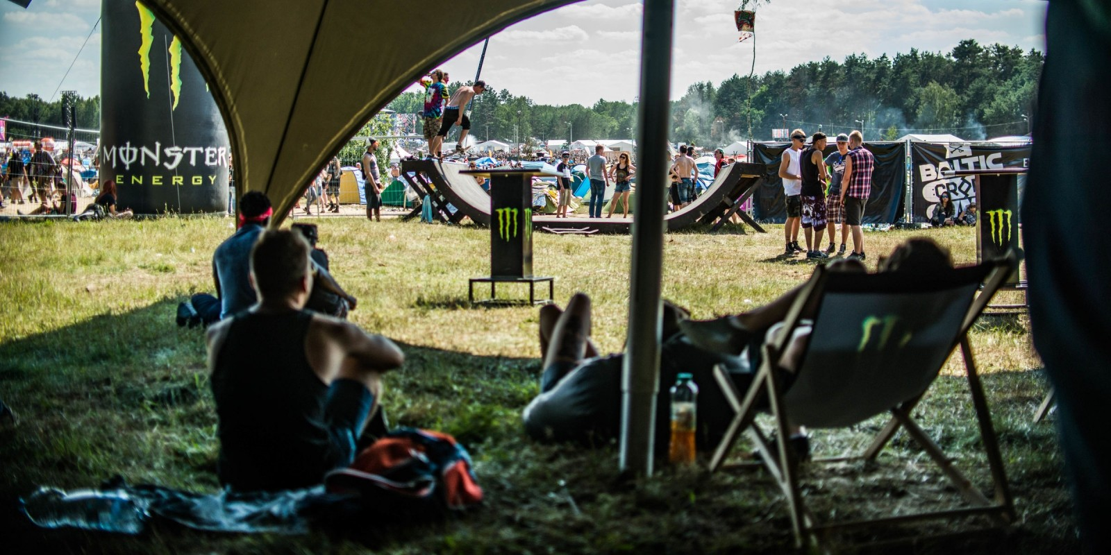 2016 Woodstock Festival, Poland - Monster Energy zone activations - chillout under double wigwam