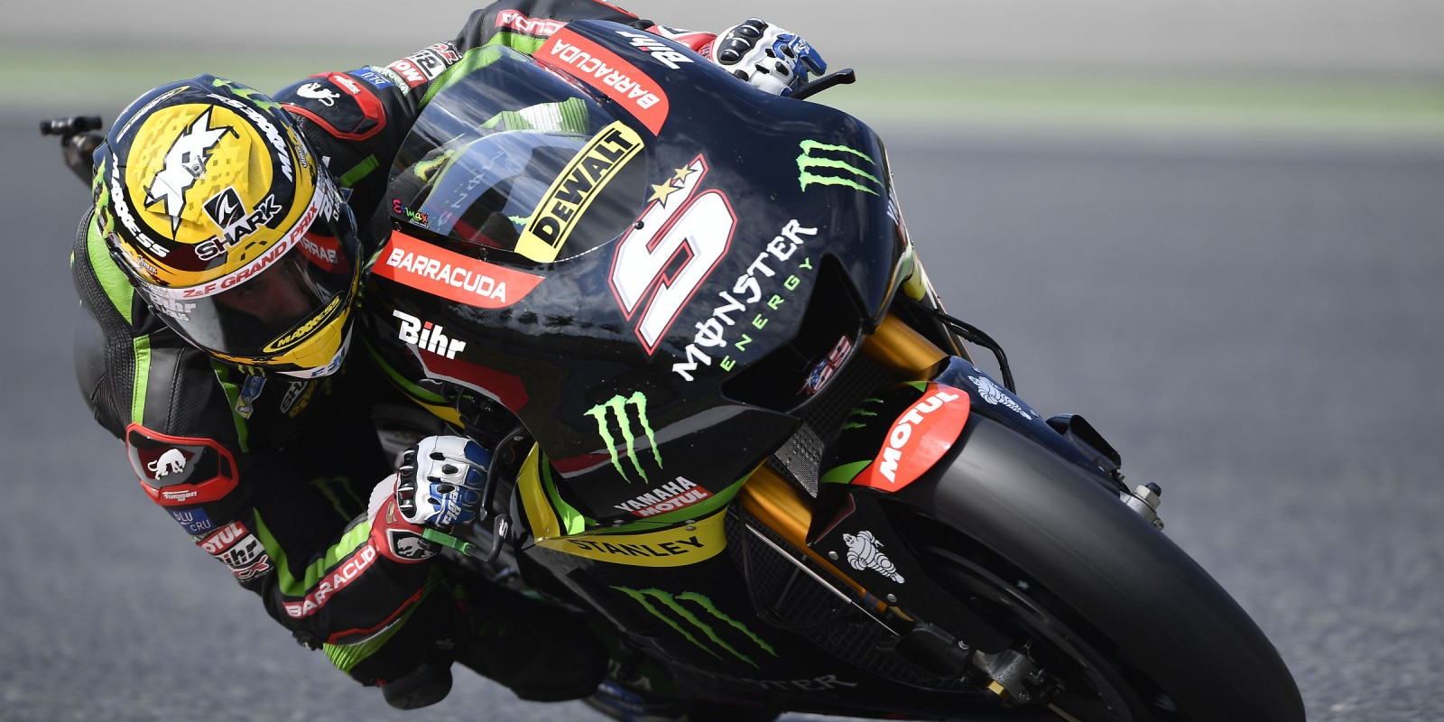 Action images of Yamaha team at Catalunya Grand Prix