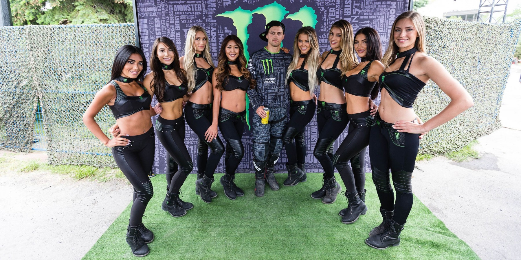 Shots of the Canadian Monster Girls around the Monster compound at Formula 1 Canadian Grand Prix