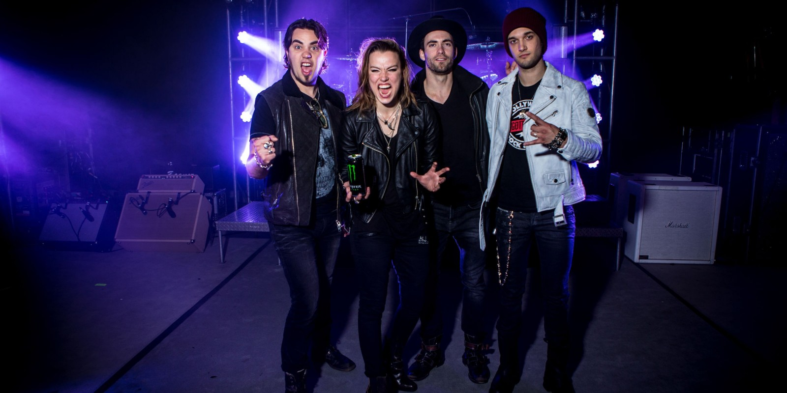 Halestorm shoot for Hero card photos
