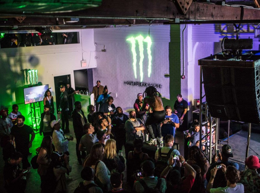 Deniro Farrar performing at 2017 Monster Energy Outbreak House, SXSW