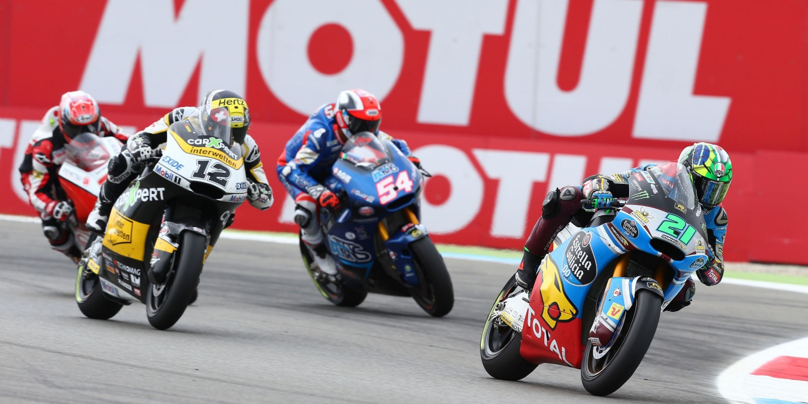 Action shots of Motorcycling Grand Prix in Assen