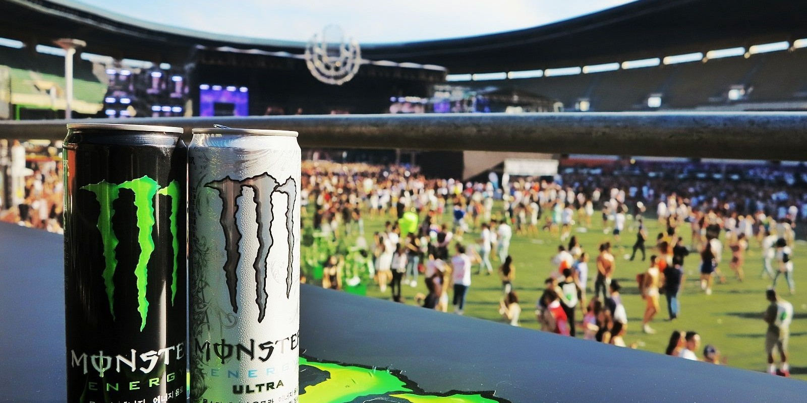 Monster Energy sponsorship at Ultra Korea 2017.