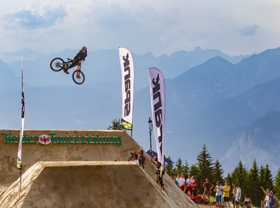 Monster athletes compete in the Crankworx Innsbruck Downhill