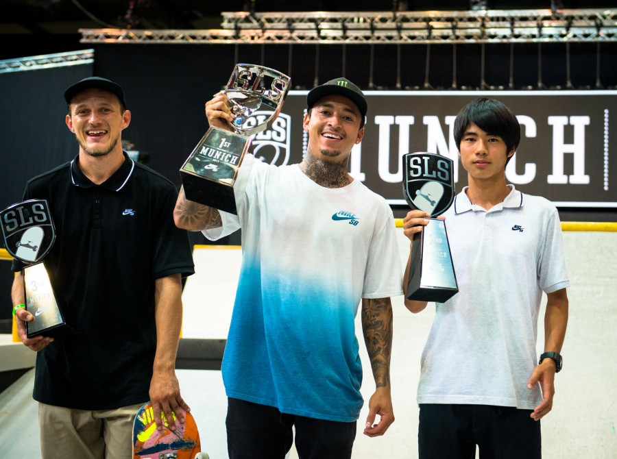 Monster athletes compete at the 2017 Street League stop in Munich