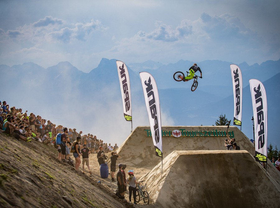 Monster athletes at the 2017 Crankworx in Innsbruck Austria