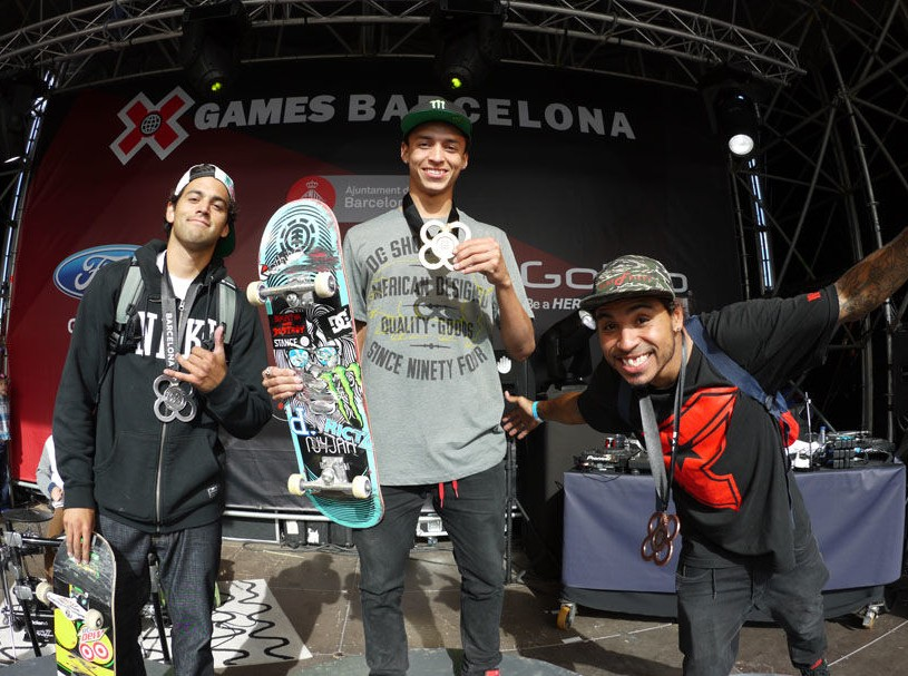 NYJAH HUSTON TAKES GOLD IN STREET LEAGUE SKATEBOARDING AT X GAMES BARCELONA 2013