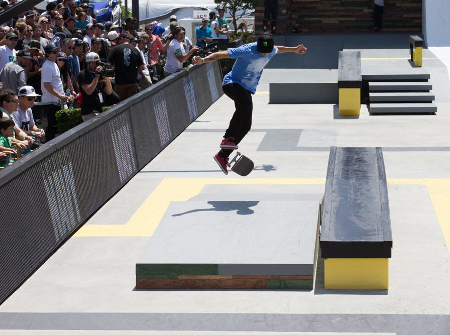 NYJAH HUSTON DOMINATES STREET LEAGUE SKATEBOARDING TO TAKE GOLD, CHRIS COLE SILVER AT X GAMES LOS ANGELES 2013