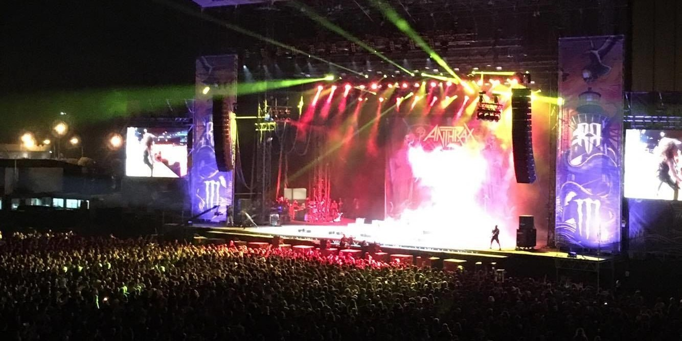 anthrax performing at resurrection festival spain