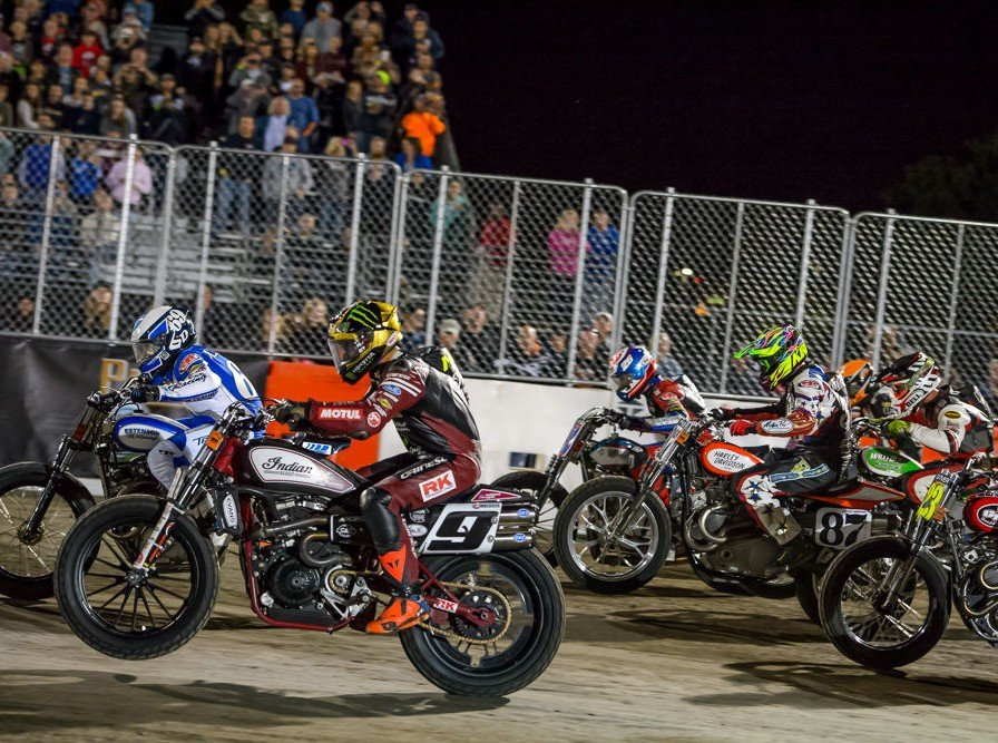 Flat Track images at Summer X Games in Minneapolis Minnesota
