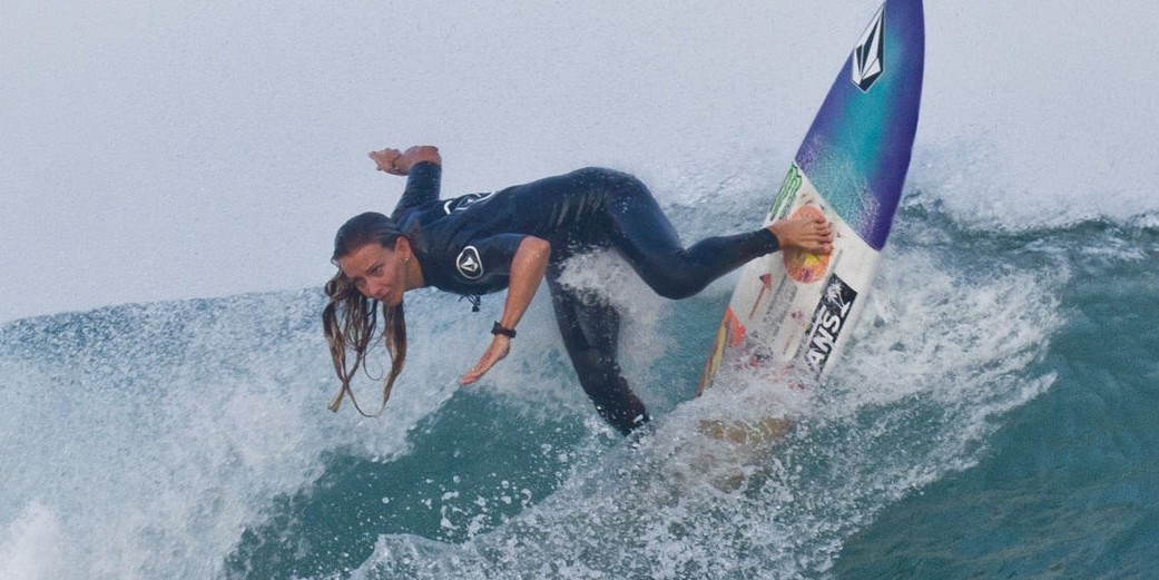 Maud le Car, Free surf session in Anglet, France,