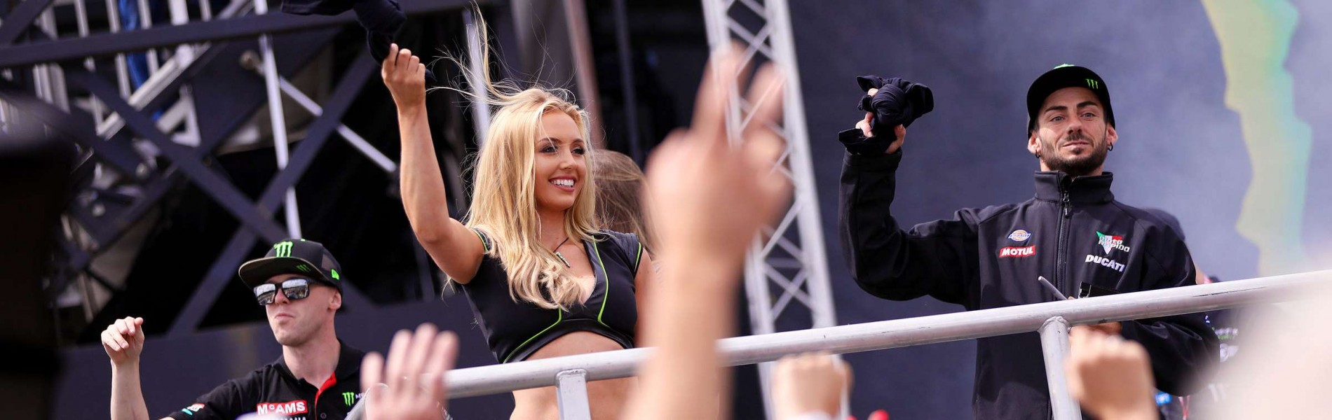 Monster Girls attending the title round of the British Superbikes at Brands Hatch