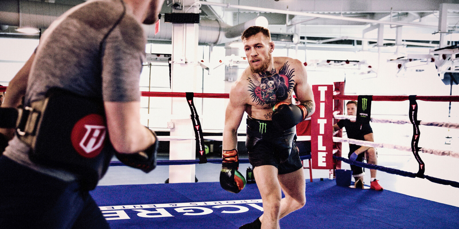 Conor McGregor training for Mayweather fight