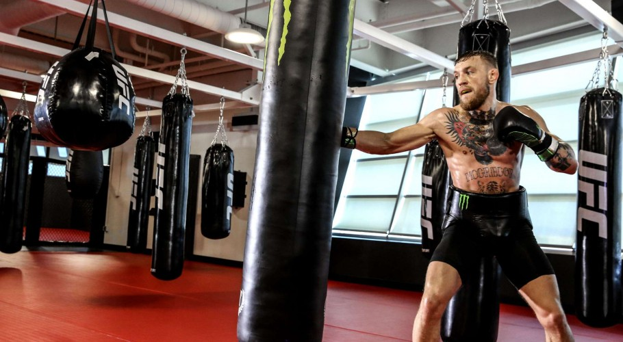 Conor McGregor during training camp for Mayweather fight