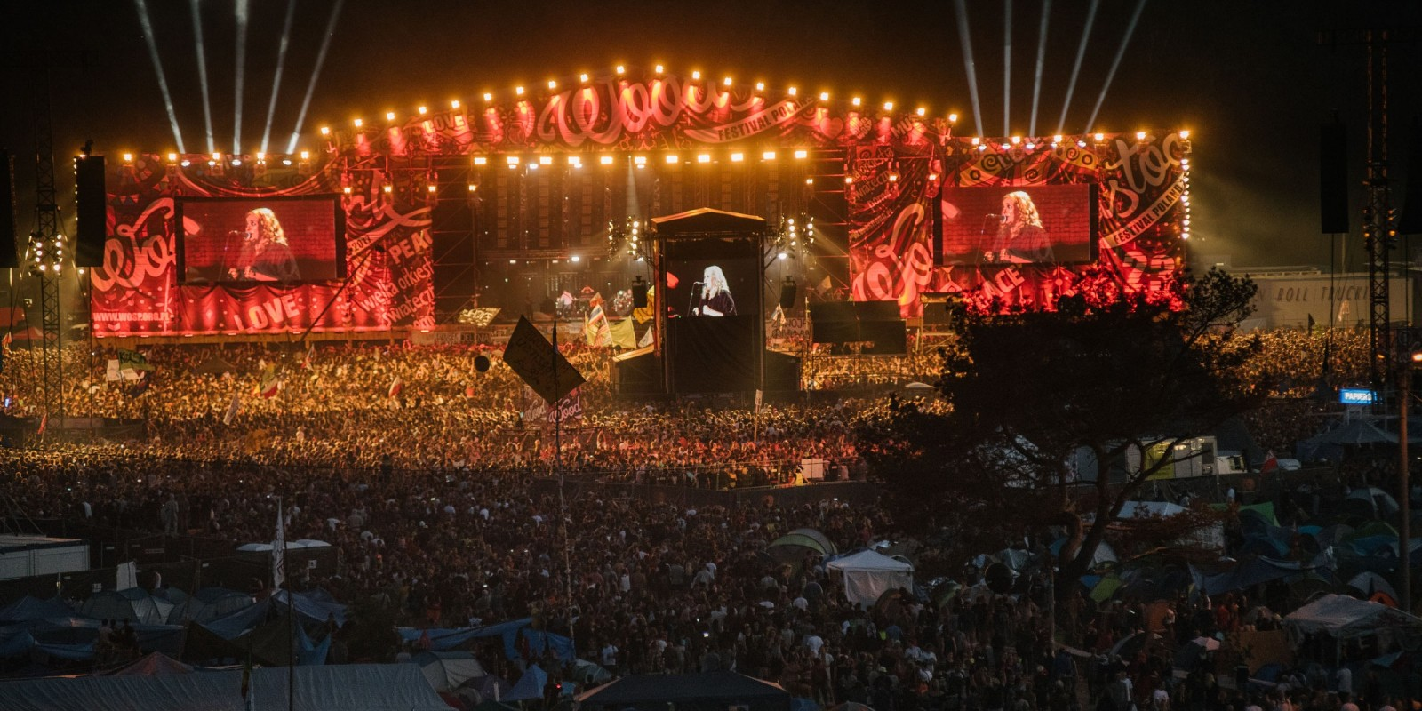 Woodstock Festival Poland 2017 - main stage and crowds of fans