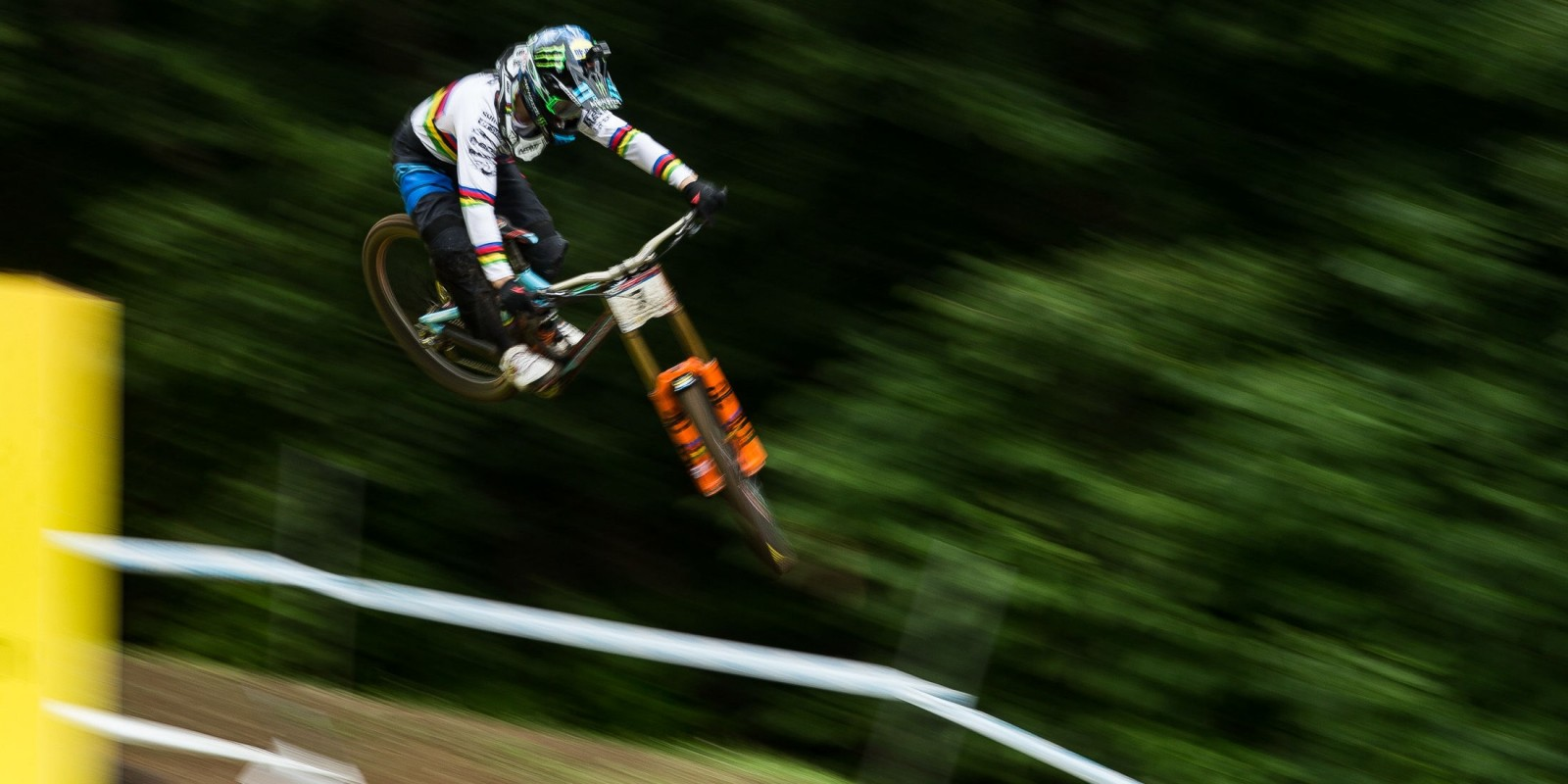 Action shots of our athletes at the Downhill World Cup, Mont Ste Anne in Quebec