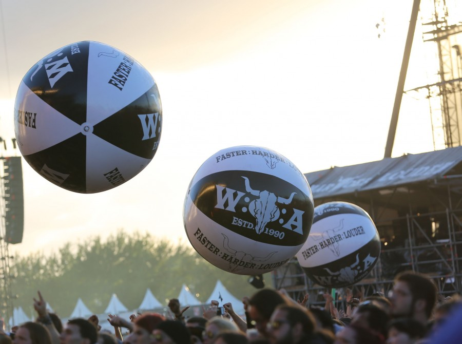 Atmosphere at the Wacken, Germany.