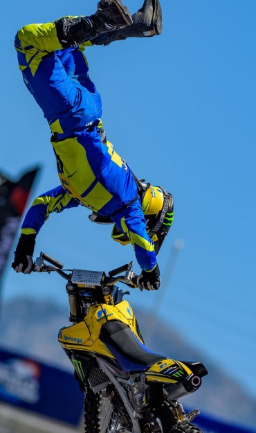 Action images of our athlete at Nitro World Games