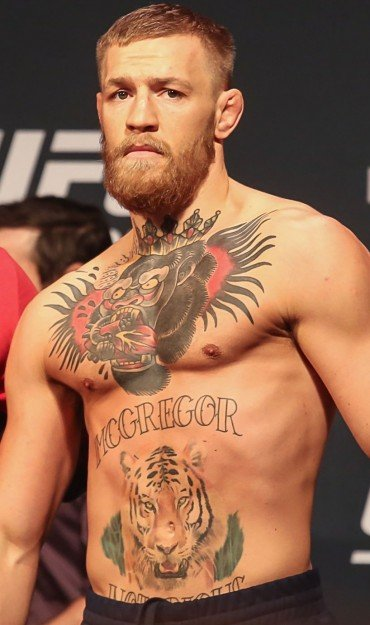Conor McGregor during UFC 202 Weigh-In in Las Vegas, Nevada