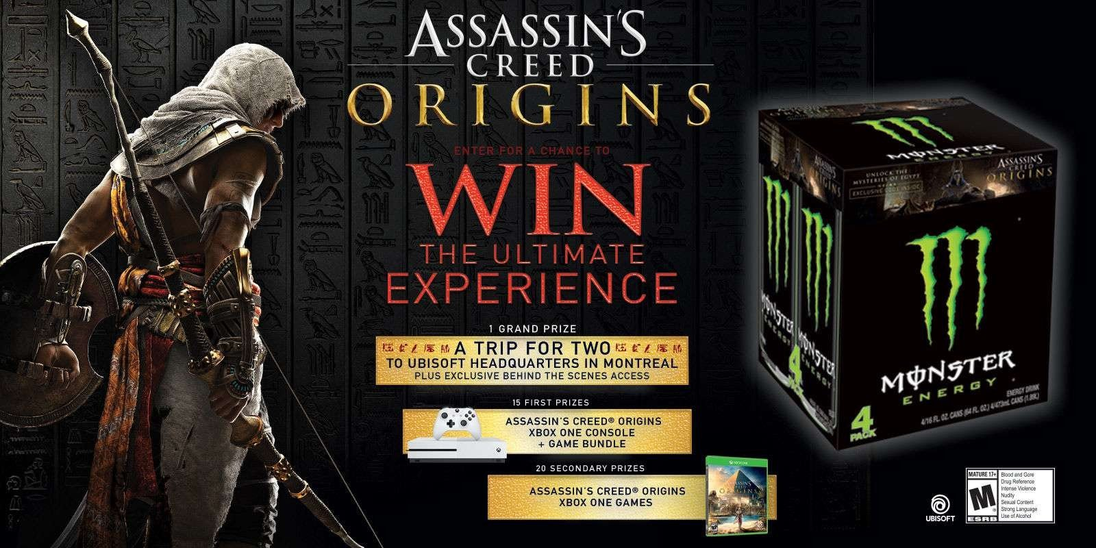 Assassin's Creed® Origins Experience Sweepstakes
