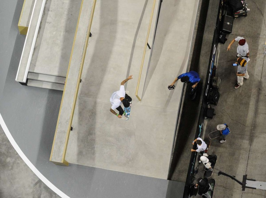 Image from the Street League Series Supercrown Practice