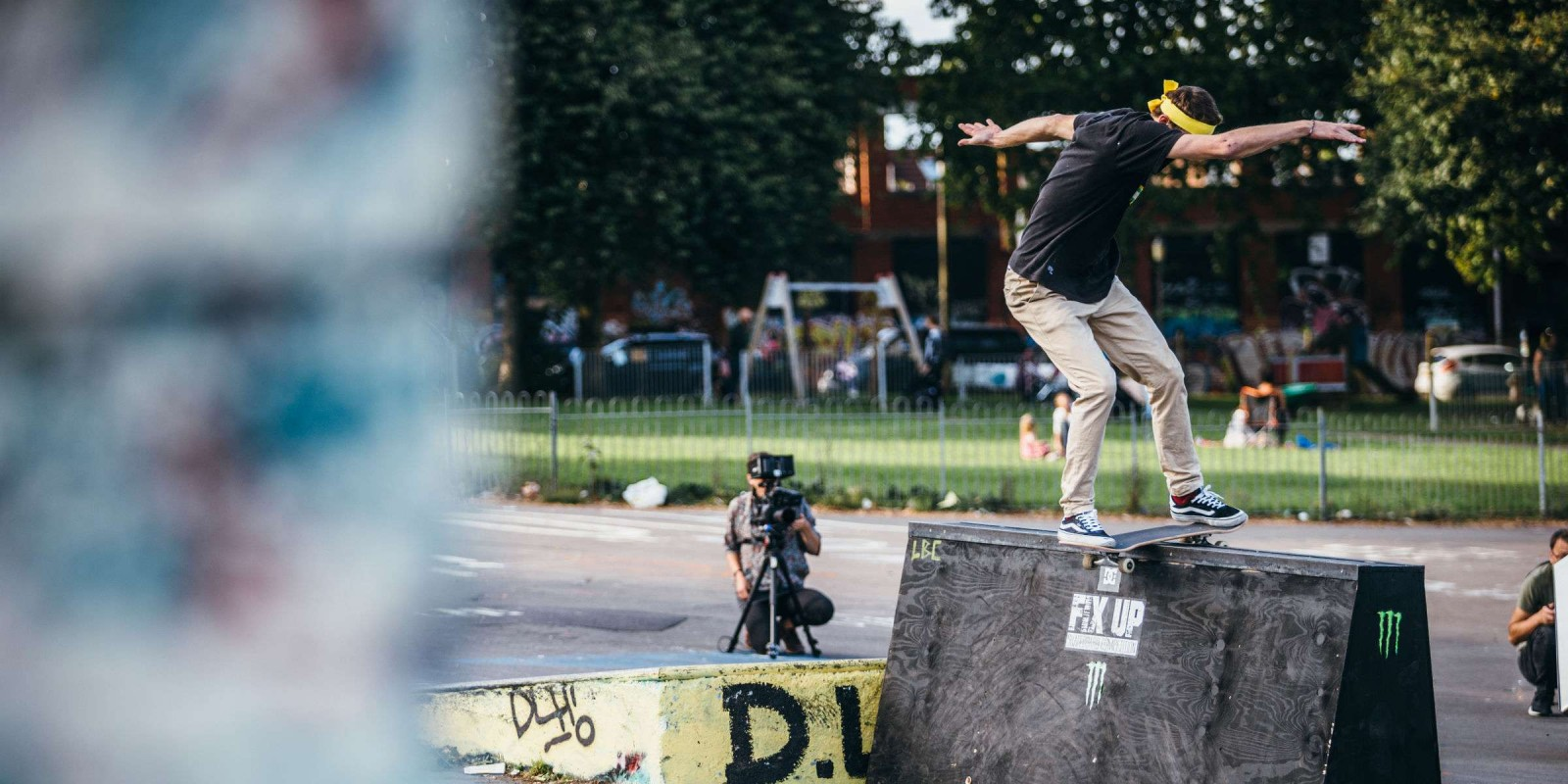 Photo of skateboarder taking part in Fix Up Event
