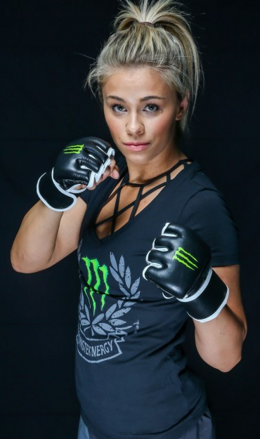 Paige VanZant Photoshoot in Huntington​ Beach, CA for Monster Energy