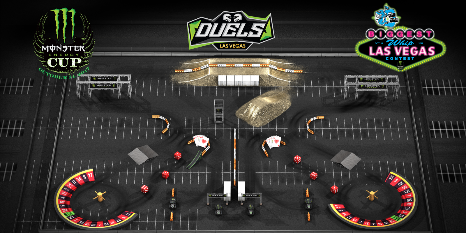 2017 Web Duels Track Map and trophy images