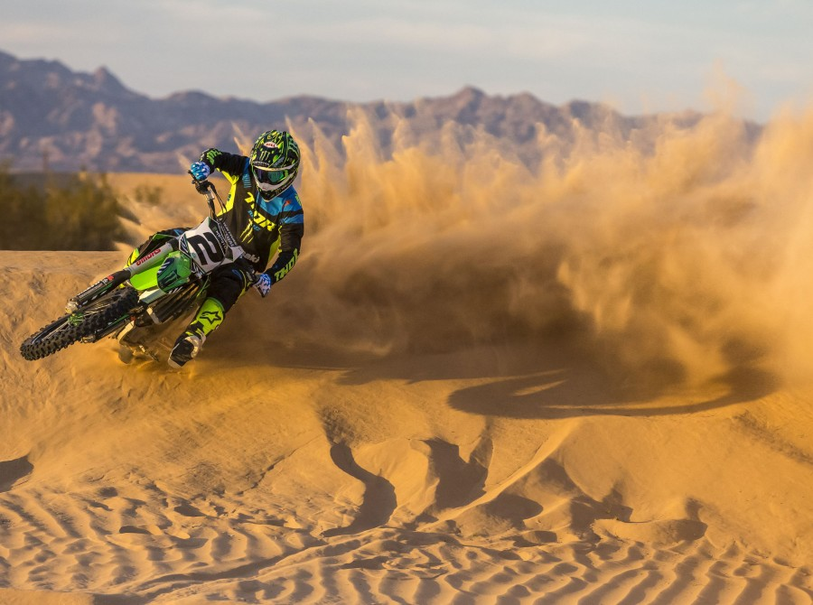 Athletes participating in the filming of Doonies III in Glamis, CA