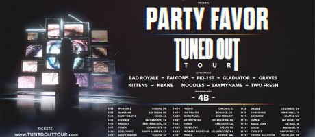 art assets for Monster Energy Outbreak tour EDM edition featuring Party Favor