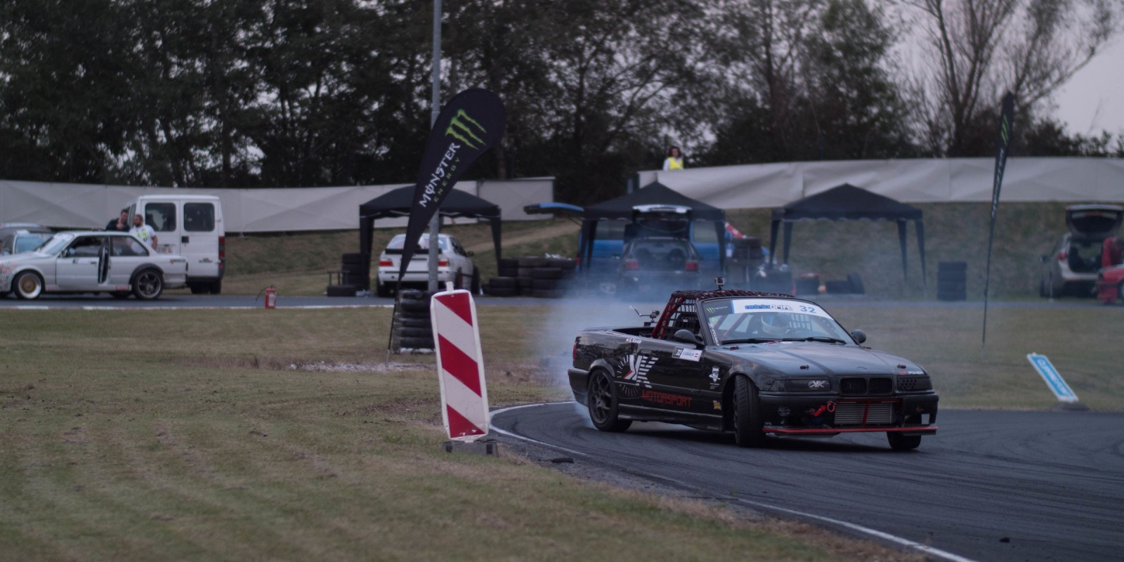 Action shot of from the 2017 Adria Drift Series in Slovenia