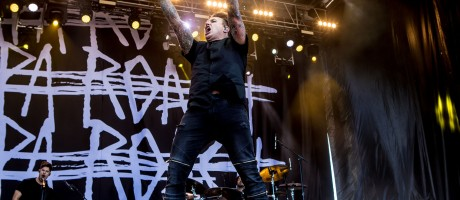 Papa Roach performance and signing at carolina rebellion festival