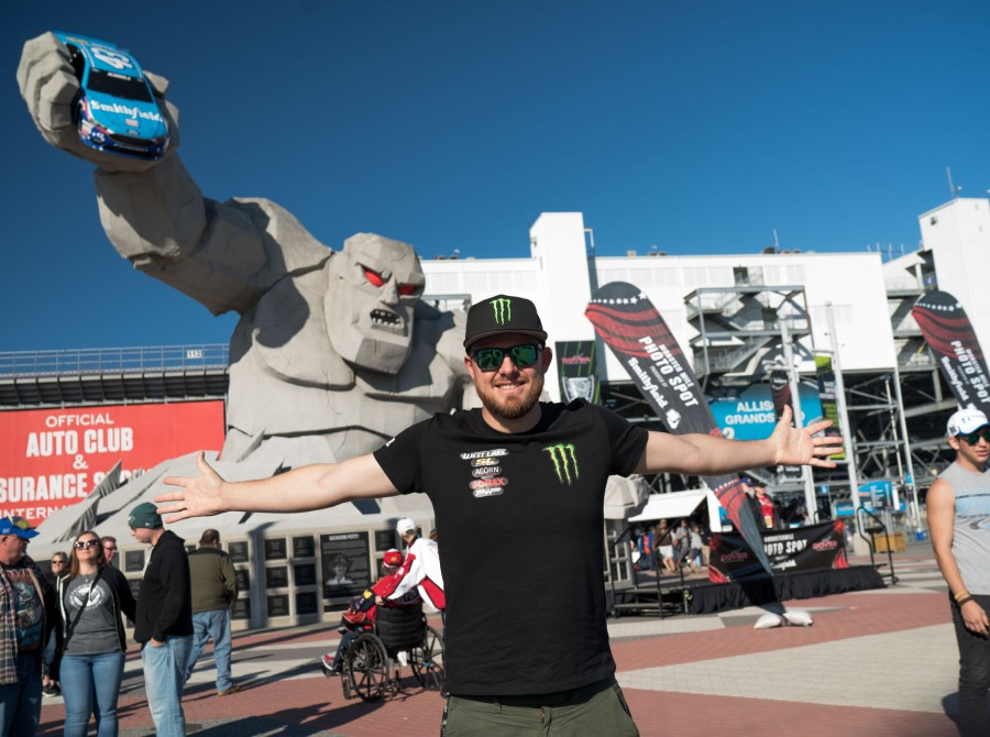 Images of Baggsy guest appearing at NASCAR held at the Dover International Speedway