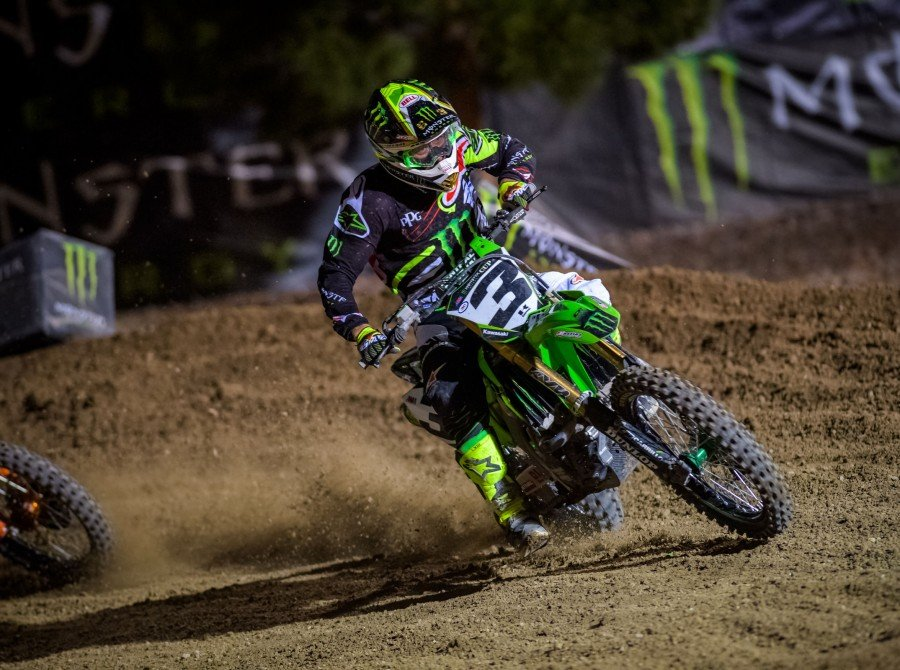 Eli Tomac competing at the 2016 Monster Cup in Las Vegas, Neveda