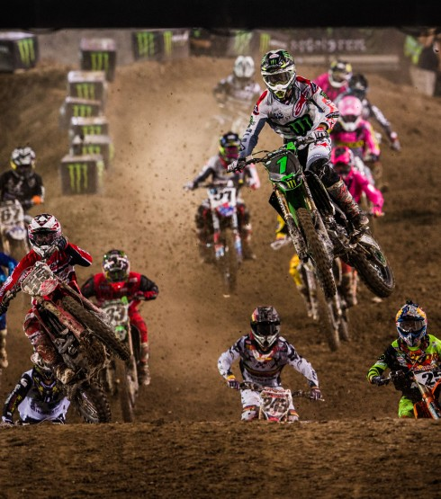 Action shot from the 2017 Monster Energy Cup