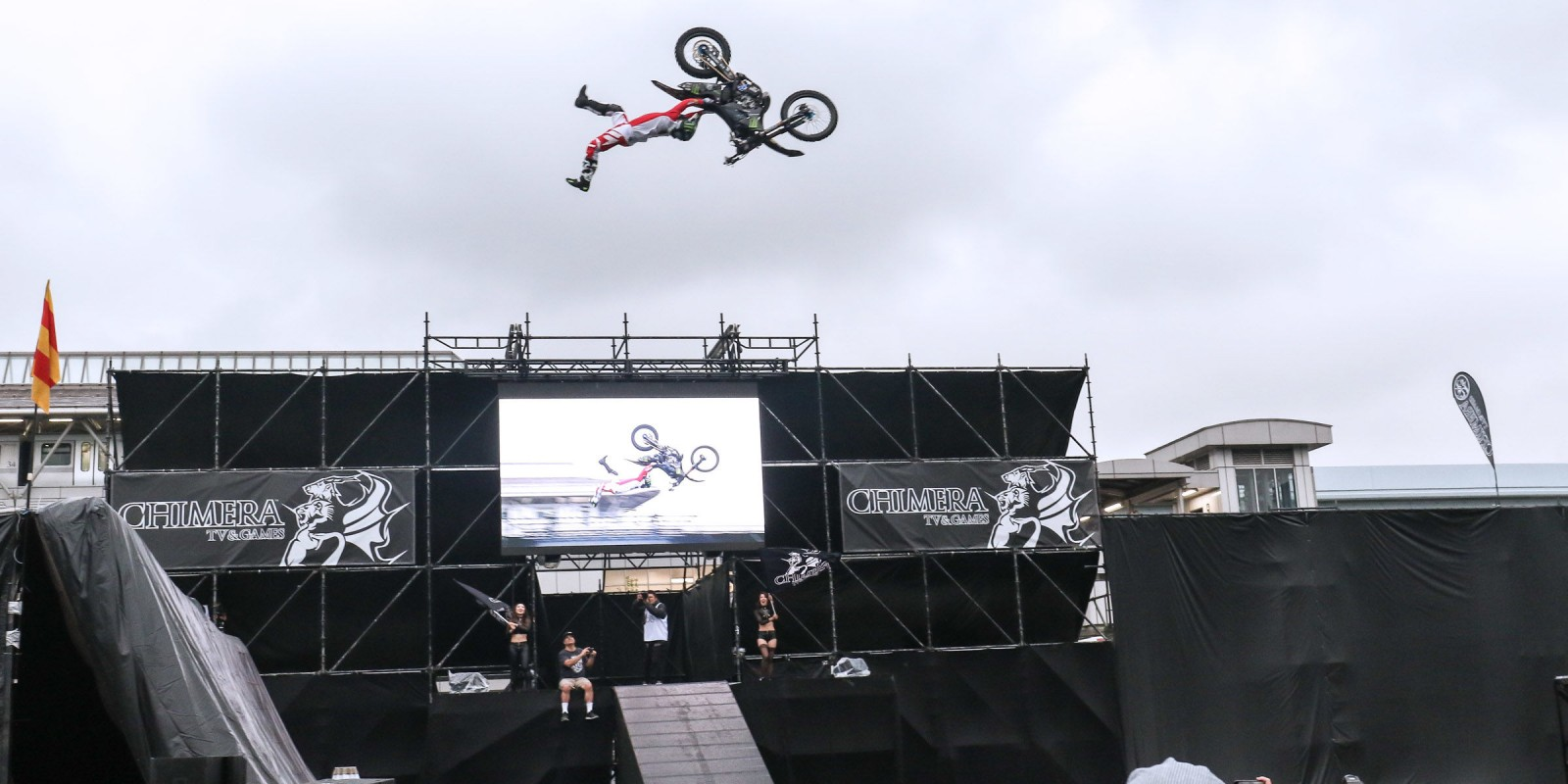 Taka Higashino at the 2017 FMX of Odaiba