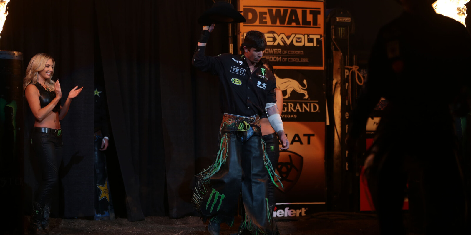 Monster athletes at the 2017 Built Ford Tough Series in Sioux Falls, South Dakota