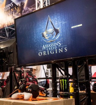 Assassin's Creed promotional products during Firstlook 2017