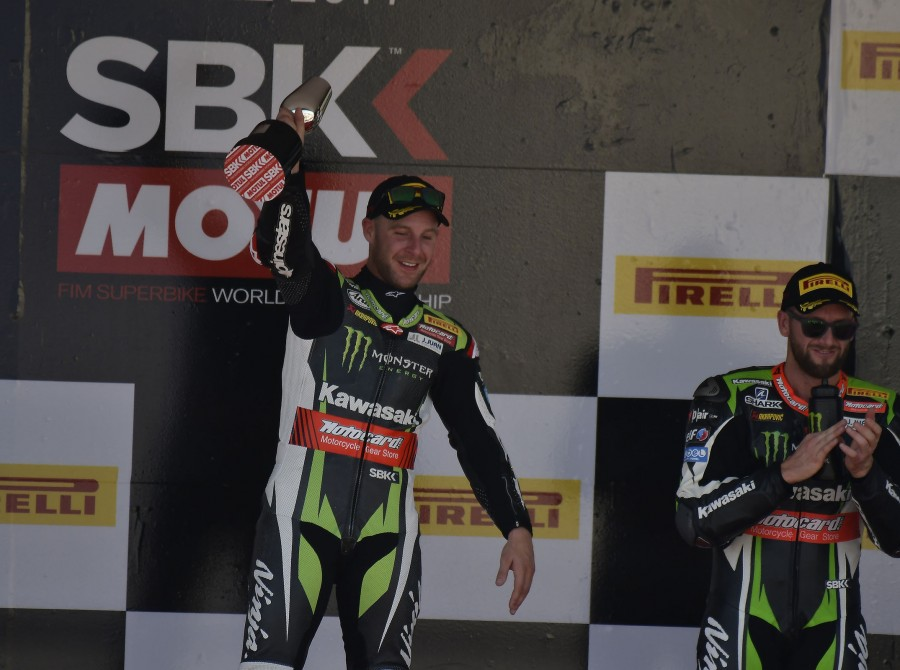 Jonathan Rea at the 2017 World Superbike Spanish round