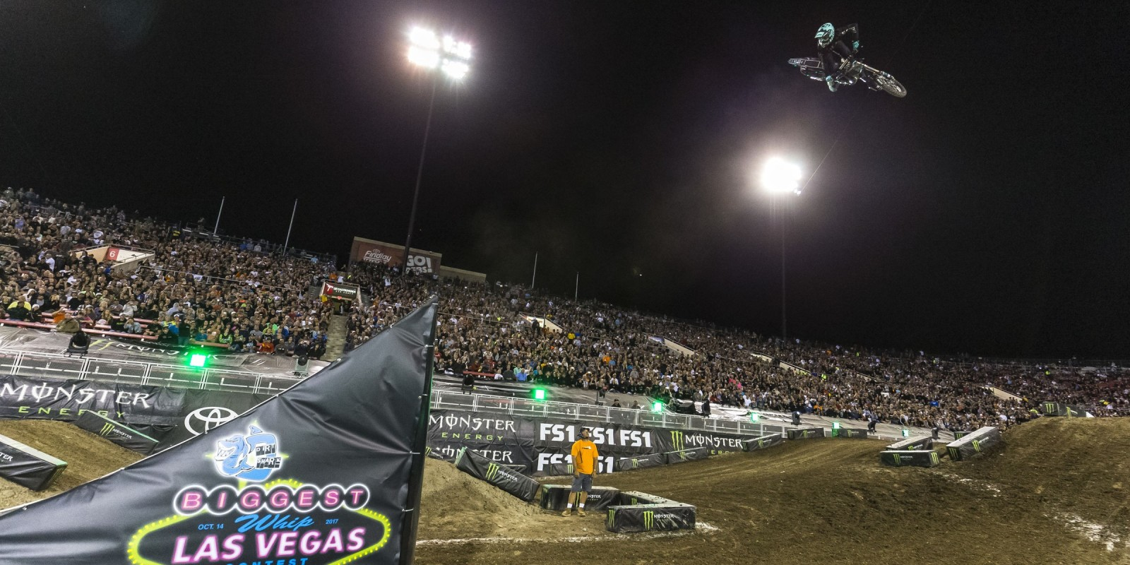 Tyler Bereman at Monster Energy Cup during the Dirt Shark Biggest Whip