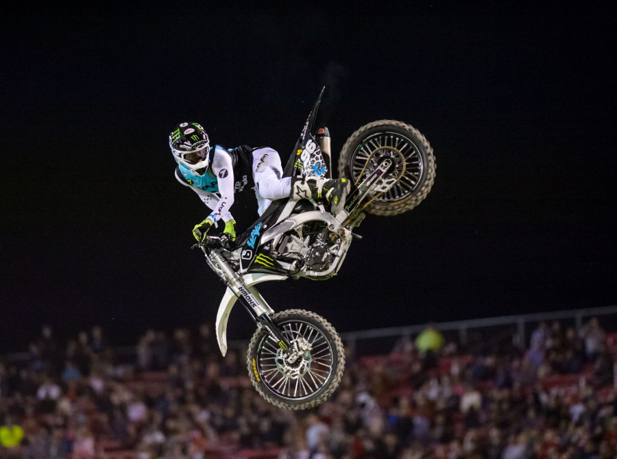 Axell Hodges at Monster Energy Cup during the Dirt Shark Biggest Whip