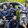 Photo shoot with a Monster sponsored band Piranha