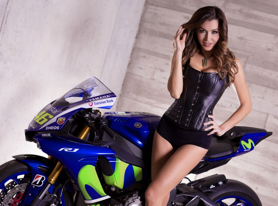 Monster Girls at the Barcelona Photoshoot with the MotoGP Bike