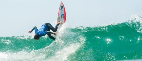 Johny Corzo during the ISA World Surfing Games